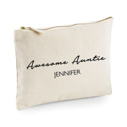 Personalised Awesome Auntie Makeup Bag
