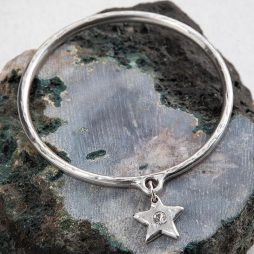 Danon Jewellery Star Shine Crystal Bangle Silver