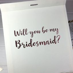 Personalised Will You Be My Bridesmaid Luxury Gift Box with Ribbon