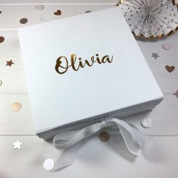 Personalised Luxury Gift Box with Ribbon
