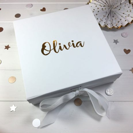 Personalised Thank You For Being My Bridesmaid Luxury Gift Box with Ribbon - Medium