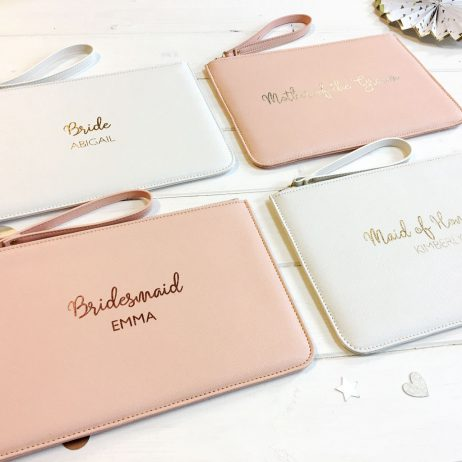 Personalised Maid of Honour Pouch Clutch Bag
