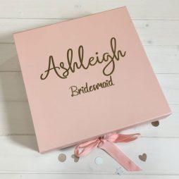 Personalised Bridesmaid Luxury Gift Box with Ribbon - Large