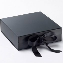 Luxury Gift Box with Ribbon - Medium_Gift_Box_Med_Blk