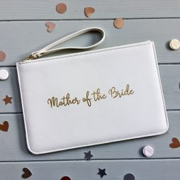 Personalised Mother of the Bride Pouch Clutch Bag