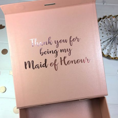 Personalised Thank You For Being My Maid of Honour Luxury Gift Box with Ribbon - Medium