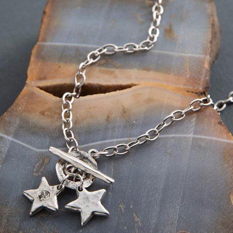 Danon Jewellery Star Shine Delicate Necklace Silver