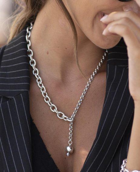 Danon Jewellery Kythira Tie Necklace Silver