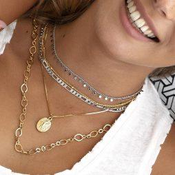 Danon Jewellery Limanos Choker Necklace Silver