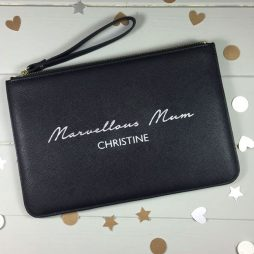 Personalised Marvellous Mum Pouch Clutch Bag