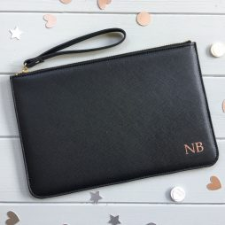 Personalised Pouch Monogram Clutch Bag | Bridesmaid Clutch Bag