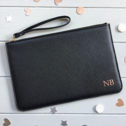 Personalised Pouch Monogram Clutch Bag | Bridesmaid Clutch Bag