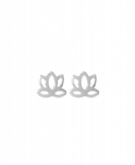 Hultquist Jewellery Sterling Silver Plated Small Lotus Earrings