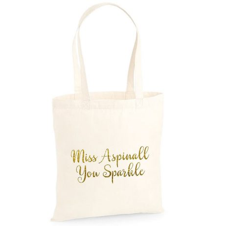 Personalised You Sparkle Tote Bag