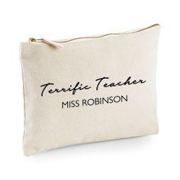 Personalised Terrific Teacher Makeup Bag