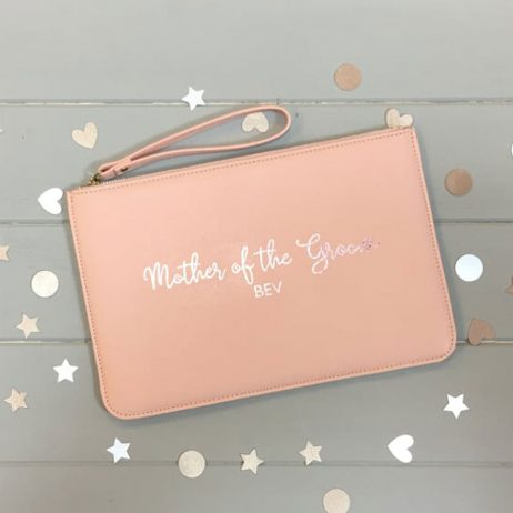 Personalised Mother of the Groom Pouch Clutch Bag