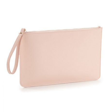 Essential Pouch with Carry Handle - Soft Pink Clutch Bag