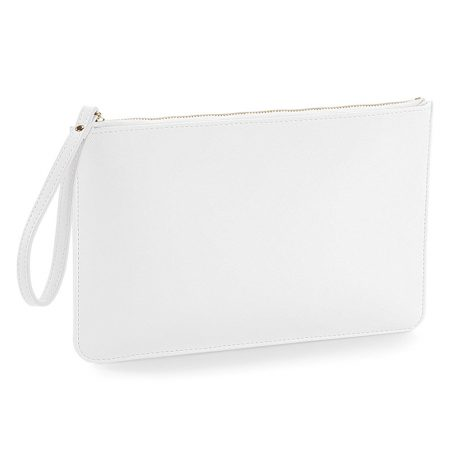 Essential Pouch with Carry Handle - White Clutch Bag