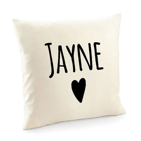 Personalised Cotton Cushion Cover with Any Name
