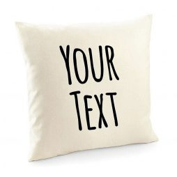 Personalized Custom Quote Cotton Cushion Cover | Custom Text Throw Pillow Cover