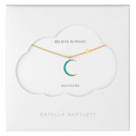 Estella Bartlett Moon and Stars Gold Plated Statement Necklace EB3477C