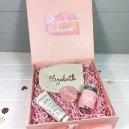 Personalised Bridesmaid Blush and Rose Gold Gift Box Set