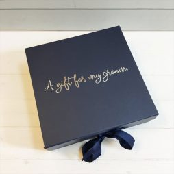Personalised Best Man Usher Groom Luxury Gift Box with Ribbon - Large