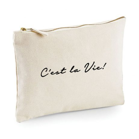Makeup Bag C'est La Vie, Cosmetic Bag