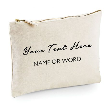 Personalised Makeup Bag Your Text, Custom Quote