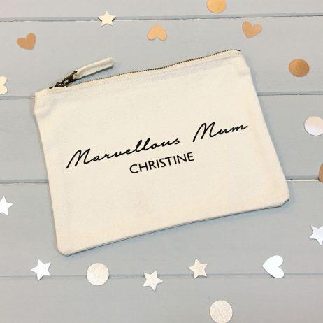 Personalised Marvellous Mum Makeup Bag