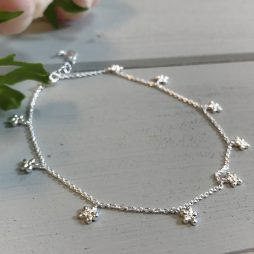 Hultquist Copenhagen Forget Me Knot Sterling Silver Anklet