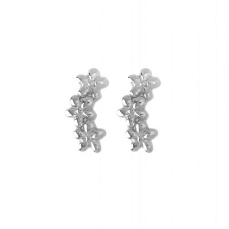 Hultquist Jewellery Sterling Silver Plated Forget Me Knot Earrings