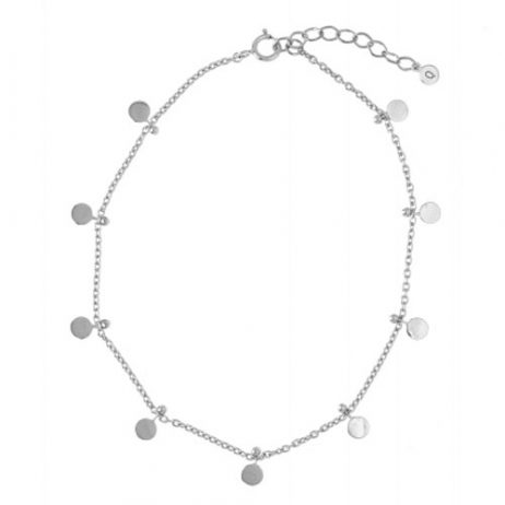 Hultquist Jewellery Mini Coin Anklet Sterling Silver