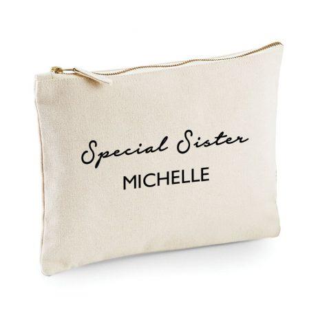 Personalised Special Sister Makeup Bag, Cosmetic Bag