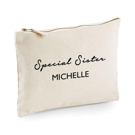 Personalised Special Sister Makeup Bag