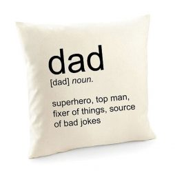 Dad Dictionary Definition Cushion Cover | Decorative Throw Pillow Cover