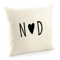 Personalized Monogram Cotton Cushion Cover | Decorative Home Throw Pillow Cover