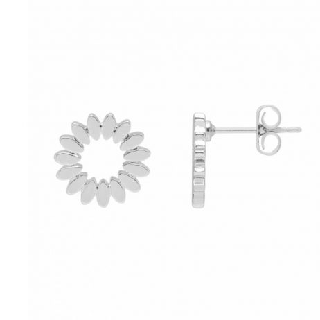 Estella Bartlett Modern Flower Silver Plated Earrings EB3432