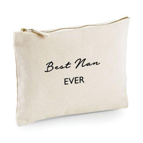 Best Nan Ever Makeup Bag Cosmetic Bag