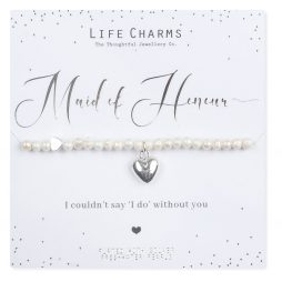 Life Charms Maid Of Honour Heart Bracelet