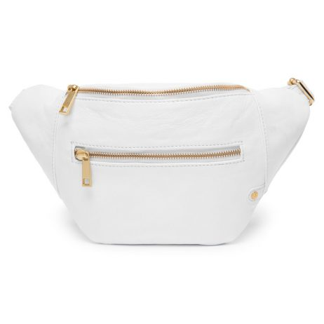 DEPECHE-Denmark Leather Belt Bag - White Bum Bag 12346