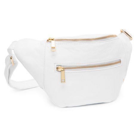 DEPECHE-Denmark Leather Belt Bag - White Bum Bag 12346