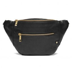DEPECHE-Denmark Leather Belt Bag - Black Bum Bag