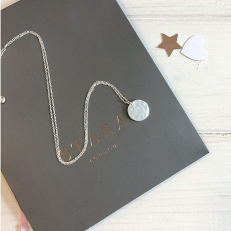 Stara London Silver Plated Disc Necklace