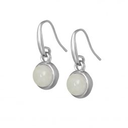 Sence Copenhagen Signature Aquamarine Worn Silver Drop Earrings