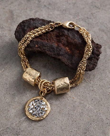 Danon Jewellery Latis Crystal Rock Gold Bracelet Crystal B3927GF