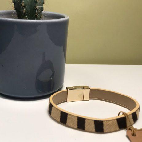 Hot Tomato Jewellery Safari Print Bracelet Black and Cream