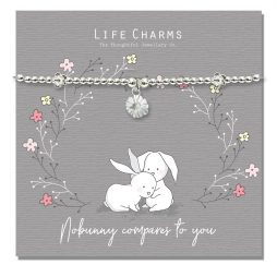 Life Charm No Bunny Compares To You Rosey Rabbits Silver Bracelet RR17