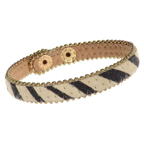 Hot Tomato Jewellery Safari Print Bracelet Black and Cream