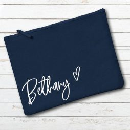 Personalised Bridesmaid Makeup Bag